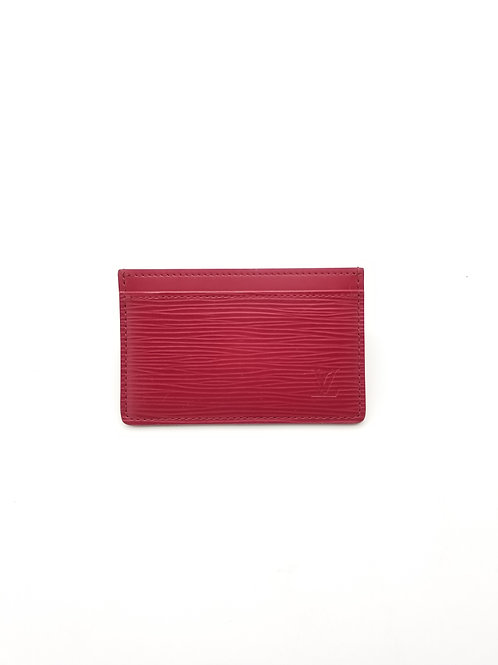 Louis Vuitton Card Holder in Fuchsia Epi Leather