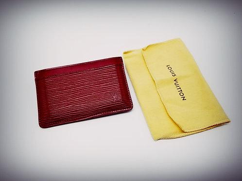 Louis Vuitton Card Holder in Fuchsia Epi Leather