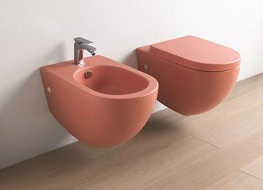 Artceram WC a bidet FILE farba: koralovo červená
