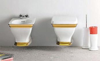 ARTCERAM CIVITAS s dekorom FASCIA v zlatej farbe