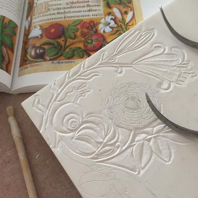 Création médievale et florale