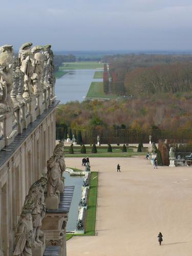 Vue des toits du Château de Versailles.