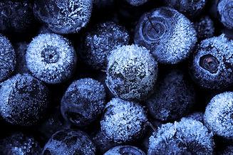 IQF blueberries.