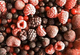 Frozen mixed berries.