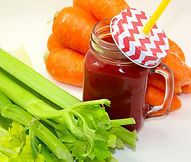 Australian celery, carrot and beetroot cold pressed juice.