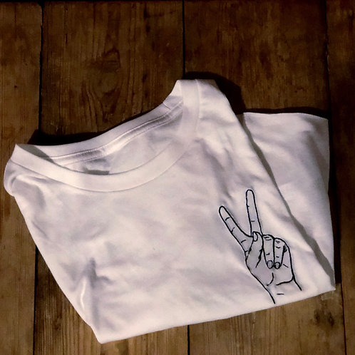 Peace Sign Cropped T-Shirt
