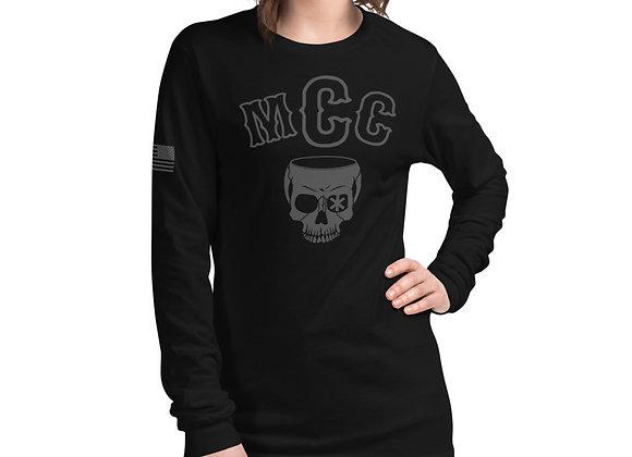 MCC Long Sleeve T-Shirt (Charcoal on Black)