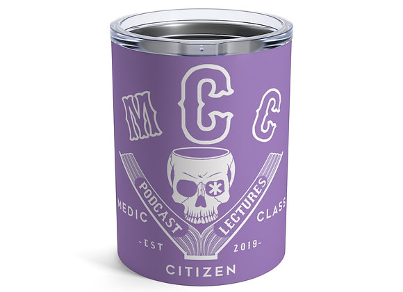 10 oz. MCC Tumbler, Basic Logo (White on Purple)