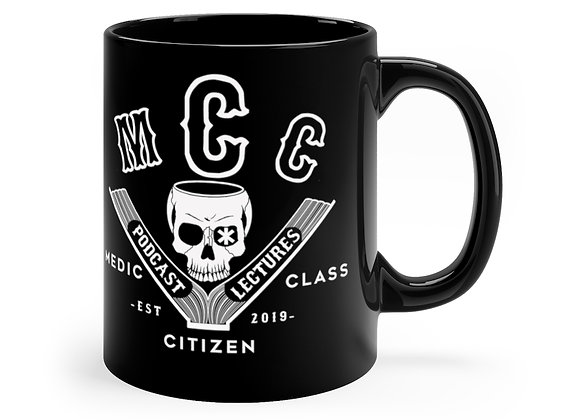11 oz. MCC Coffee Cup, Basic Logo (White on Black)