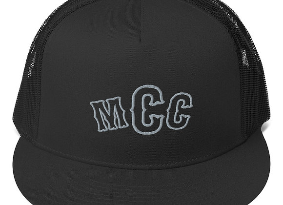 MCC Trucker Hat (Charcoal on Black)