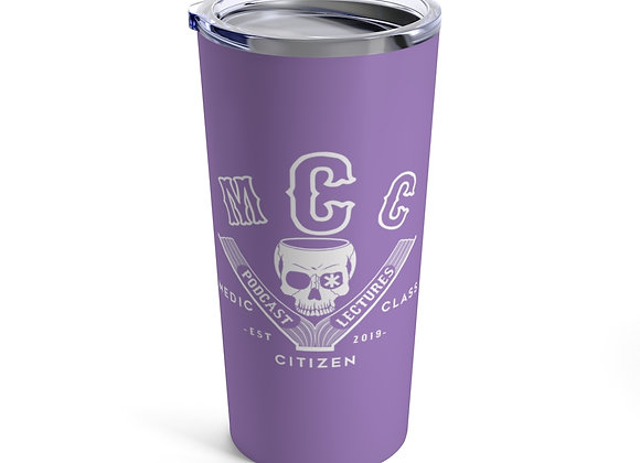 20 oz. MCC Tumbler, Basic Logo (White on Purple)