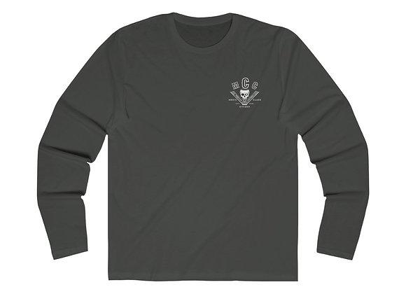 MCC Premium Long Sleeve (White on Black - Slim Fit)
