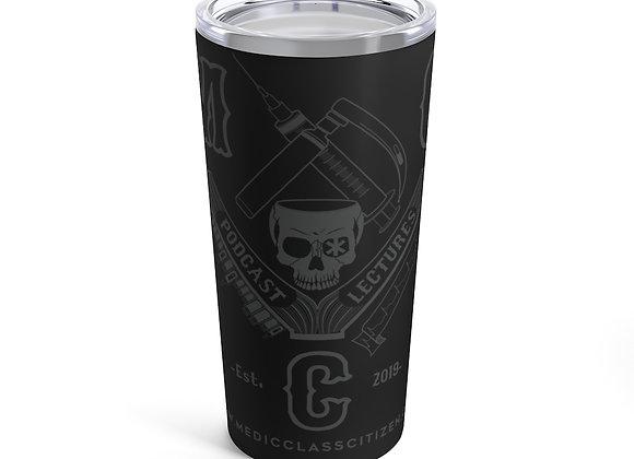 20 oz. MCC Tumbler, Full Logo (Charcoal on Black)