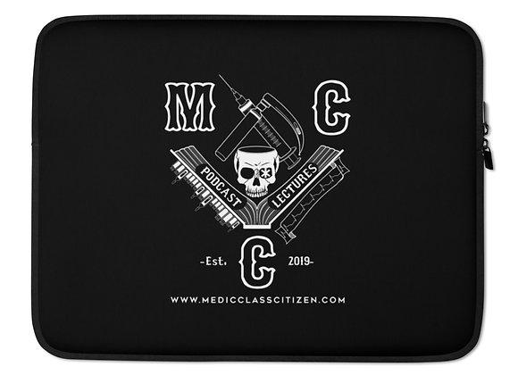 MCC Laptop Sleeve (White on Black)