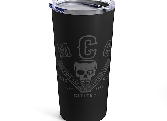 20 oz. MCC Tumbler, Basic Logo (Charcoal on Black)