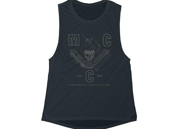 MCC Women's Muscle Tank (Charcoal on Black)