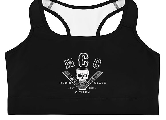 MCC Sports Bra (White on Black)