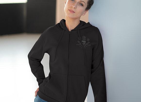 MCC Standard Zip Hoodie (Charcoal on Black)