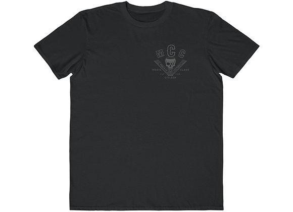 MCC Modern Cut T-Shirt (Charcoal on Black)