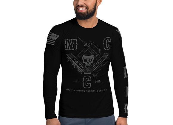 MCC Men's No-Gi Jiu Jitsu Rash Guard (Charcoal on Black)