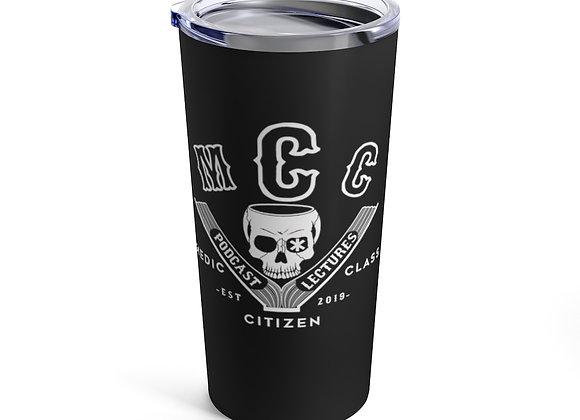 20 oz. MCC Tumbler, Basic Logo (White on Black)