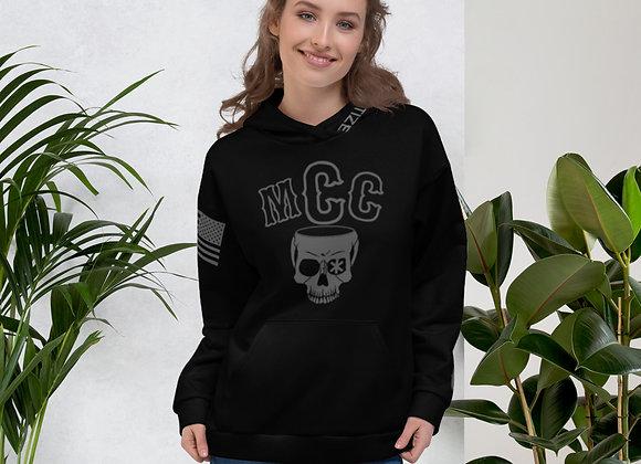 MCC Pull Over Hoodie (Charcoal on Black)