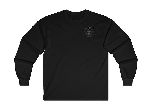 MCC Long Sleeve (Charcoal on Black - Classic Fit)