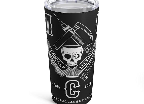 20 oz. MCC Tumbler, Full Logo (White on Black)