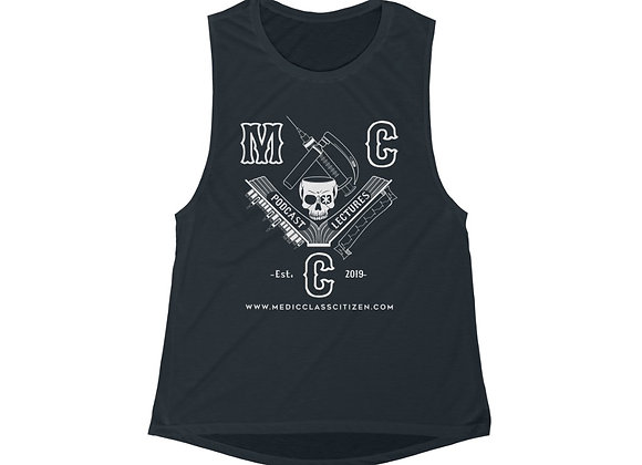 MCC Women's Muscle Tank (White on Black)