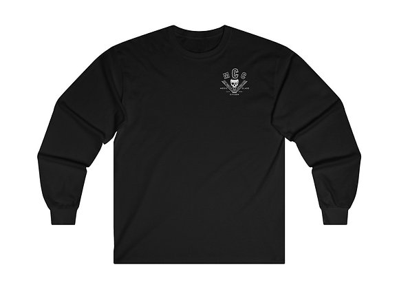 MCC Long Sleeve (White on Black - Classic Fit)