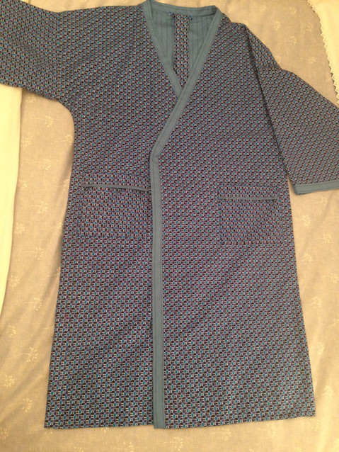 Mans Reversible Dressing Gown using Burberry Fabric