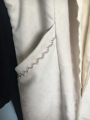 Pocket Trim detailing on Simplicity 1732 Goth Victorian Steampunk Coat Pattern