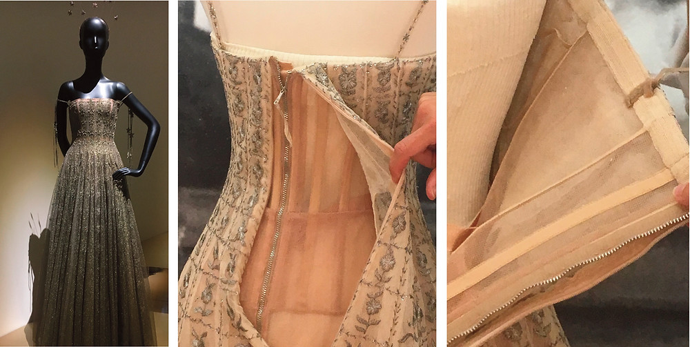 Maria Grazia dress showing inside construction