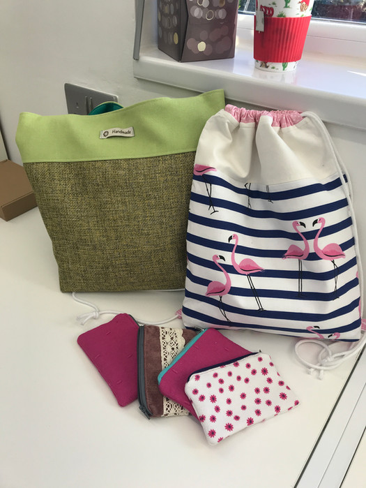 Andrea's beautiful collection of bags and purses