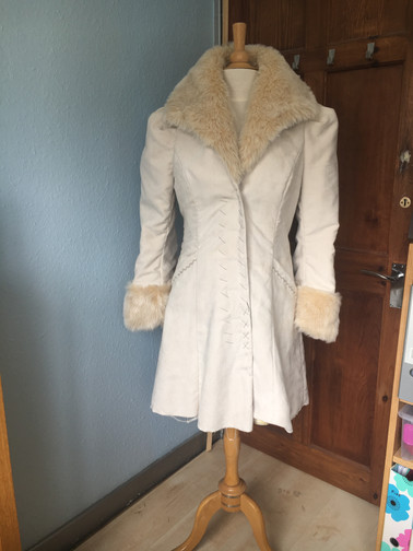 Cream Faux Suede Arkivestry Coat