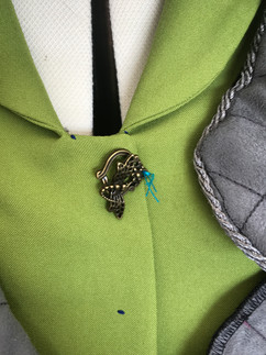 position the Metal Dragonfly clasp fasteners onto the garment