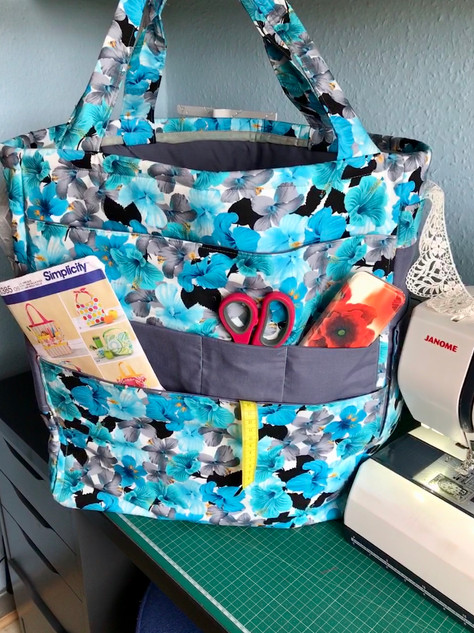 Giant Tote bag with lots of pockets for all Melanies sewing essentials