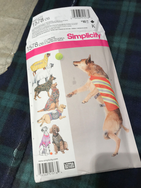 Simplicity 1578 Dog Coat Pattern
