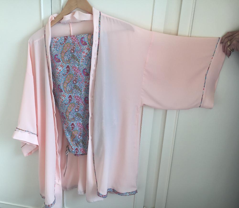 My chiffon crepe kimono style robe – half finished