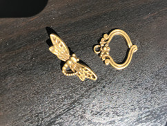Metal Dragonfly clasp fasteners
