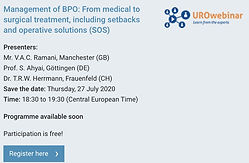 EAU virtual - UROwebnar: Management of BPO: From medical to surgical treatment, including setbacks and operative solutions (SOS)