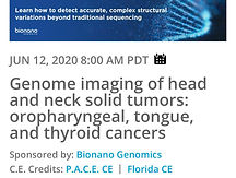 Genome imaging of head and neck solid tumors: oropharyngeal, tongue, and thyroid cancers