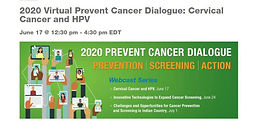 2020 Virtual Prevent Cancer Dialogue: Cervical Cancer and HPV