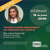 "PATIENT BLOOD MANAGMENT""  NO CONTEXTO DA COVID-19"