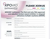 The first and only FDA-approved oral selective nuclear export inhibitor in relapseed refractory multiple myleloma (RRMM)