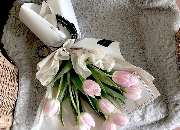 Baby pink tulips