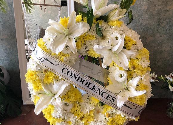 Condolence wreath white