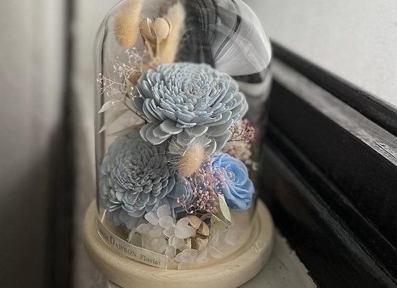 Preserved flower bell jar