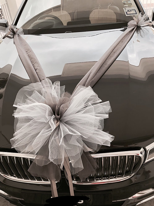 Basic Wedding car deco