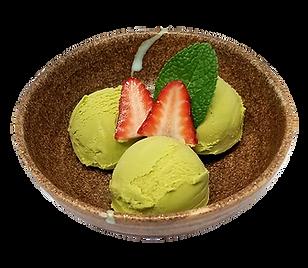 ramen isshin green ice cream.png